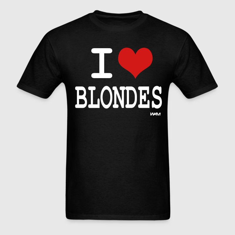 i love blondes by wam - Men's T-Shirt