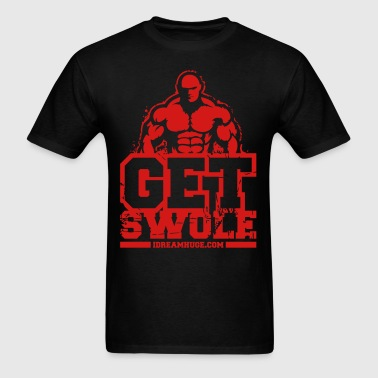 Get Swole White Red - Distressed - Men's T-Shirt