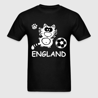 Soccer Cat England Great Britain United Kingdom  - Men's T-Shirt