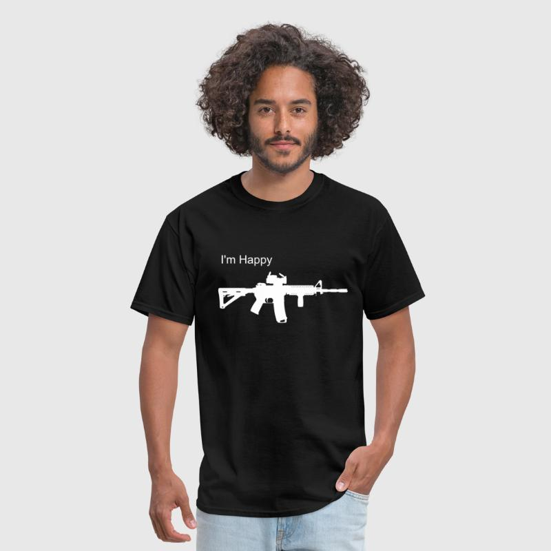 AR-15 silhouette - Men's T-Shirt