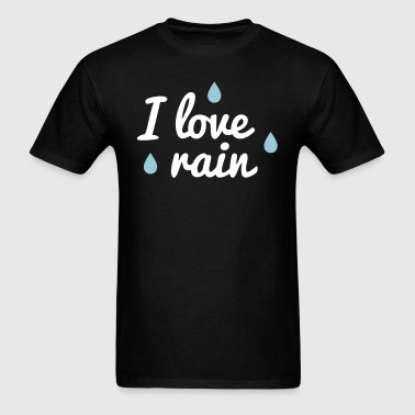 i love rain - Men's T-Shirt