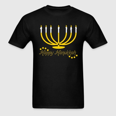 Menorah Happy Hanukkah - Men's T-Shirt