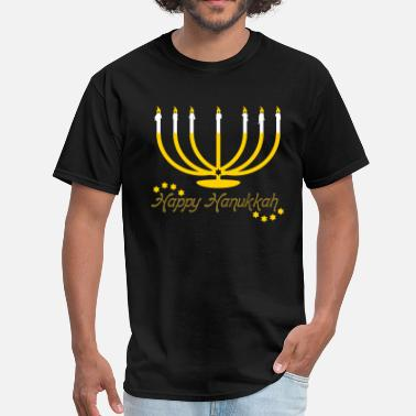 Chanukkah Menorah Happy Hanukkah - Men's T-Shirt