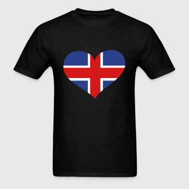 Iceland Heart; Love Iceland - Men's T-Shirt