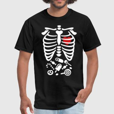 Scary Halloween X-Ray costume candy  - Men's T-Shirt