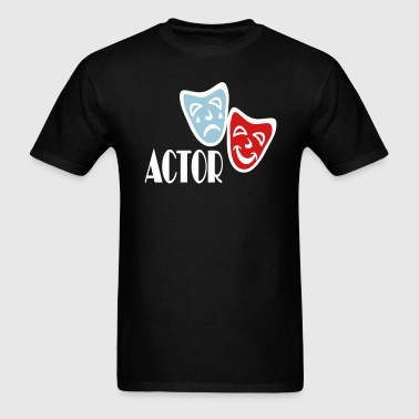 Actor With Comedy Tragedy Masks - Men's T-Shirt