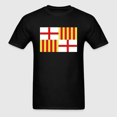Spanish Flag Barcelona Spain - Men's T-Shirt
