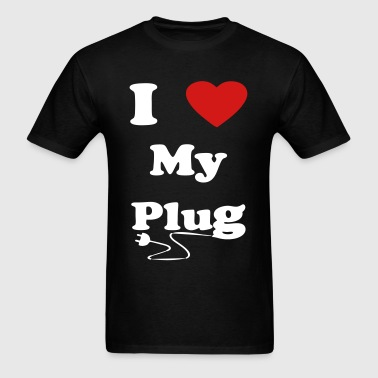 i love my plug official - Men's T-Shirt