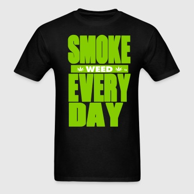 SMOKE WEED EVERYDAY-By Crazy4tshirts - Men's T-Shirt