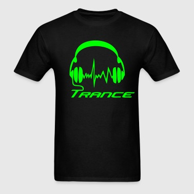 Trance Headphones - Men's T-Shirt