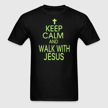 KEEP CALM AND WALK WITH JESUS - Men's T-Shirt
