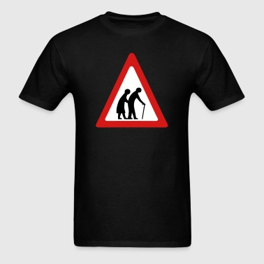 Elderly Crossing Sign - Men's T-Shirt