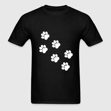 Paws, Pawprints - Men's T-Shirt
