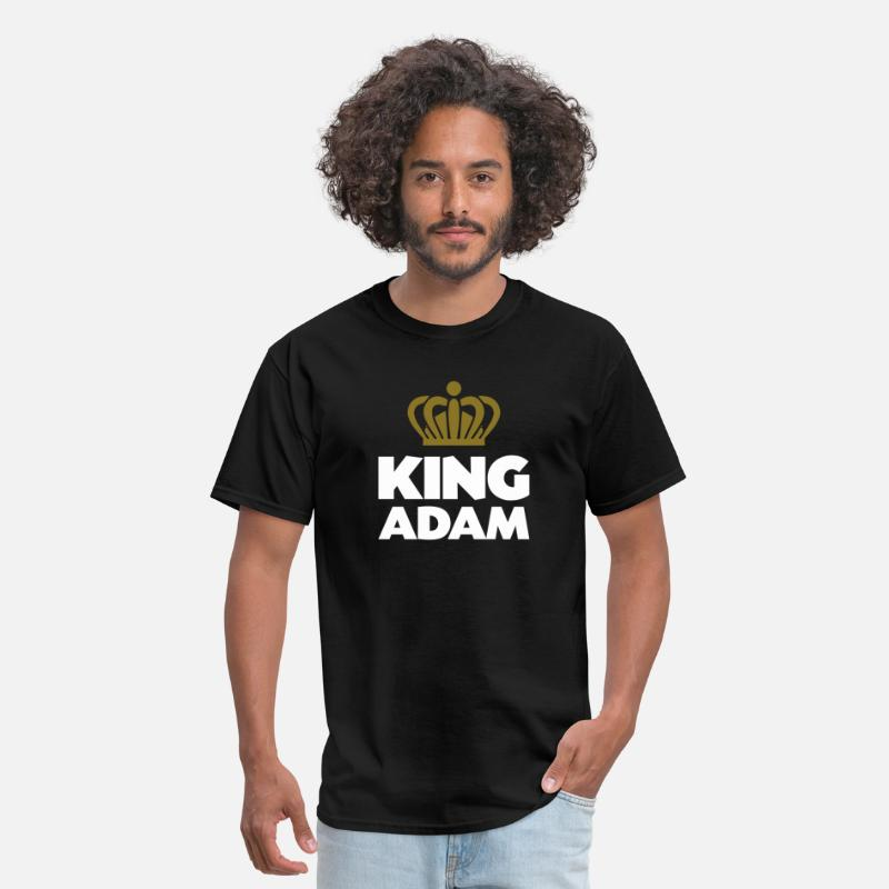 T-Shirts - King adam name thing crown - Men's T-Shirt black
