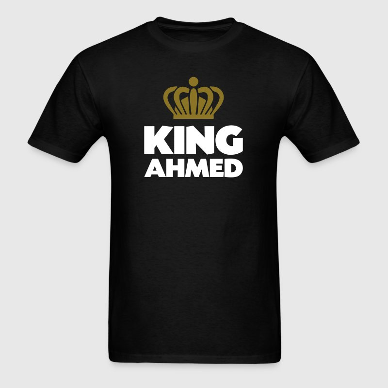 King ahmed name thing crown - Men's T-Shirt
