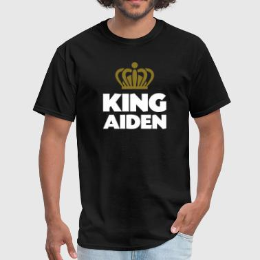 King aiden name thing crown - Men's T-Shirt