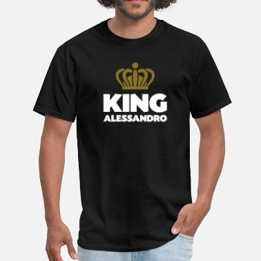 Alessandro King alessandro name thing crown - Men's T-Shirt