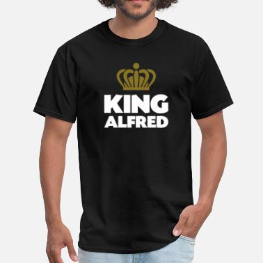 Alfred King alfred name thing crown - Men's T-Shirt