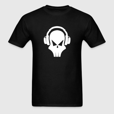 Skull with Headphones - Men's T-Shirt