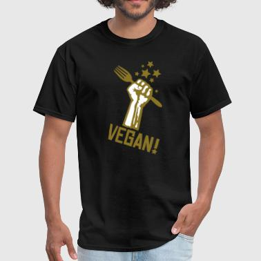 us_raisedfistvegan_2c - Men's T-Shirt
