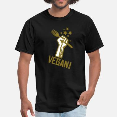 Vegan us_raisedfistvegan_2c - Men's T-Shirt