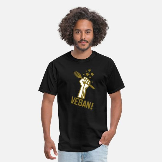 Vegan T-Shirts - us_raisedfistvegan_2c - Men's T-Shirt black