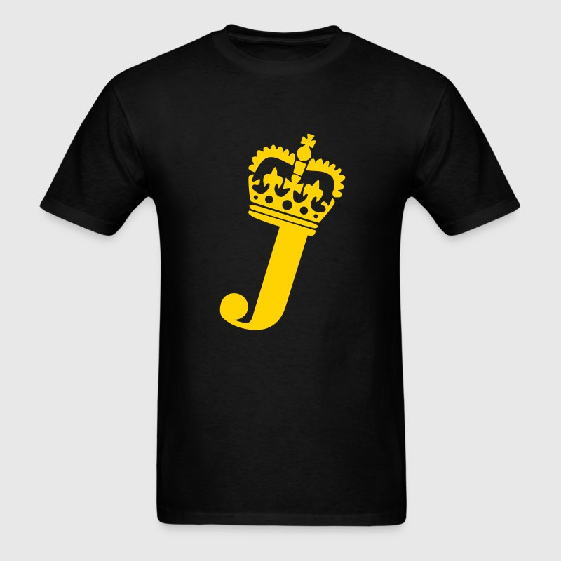 Crown - J – Name - Men's T-Shirt