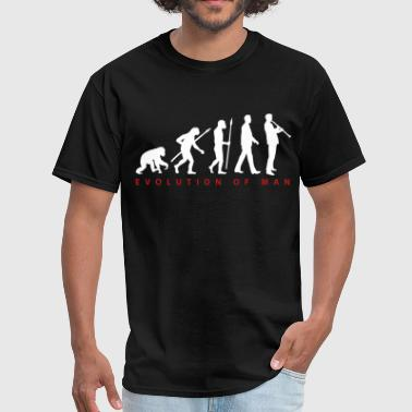 evolution_klarinette_spieler_082013_b_2c - Men's T-Shirt