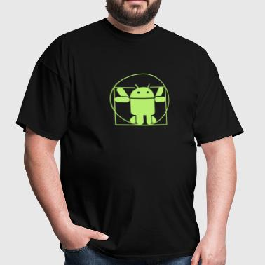Vitruvius android - Men's T-Shirt