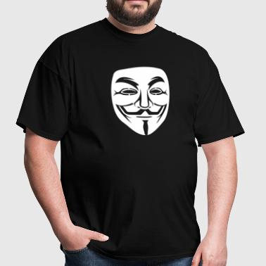 Anonymous/Guy Fawkes mask 1 clr - Men's T-Shirt