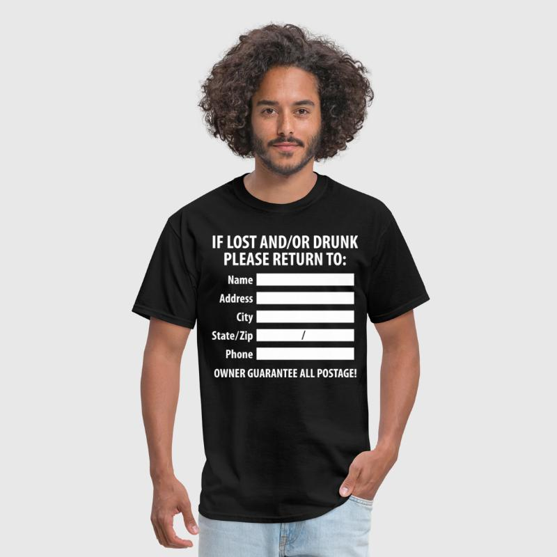Lost/Drunk Return Label - Men's T-Shirt