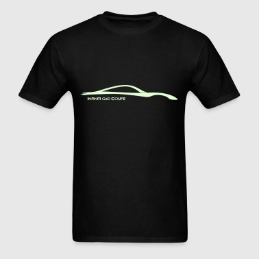 Infiniti Q60 Coupe Glow in the Dark Silhouette - Men's T-Shirt