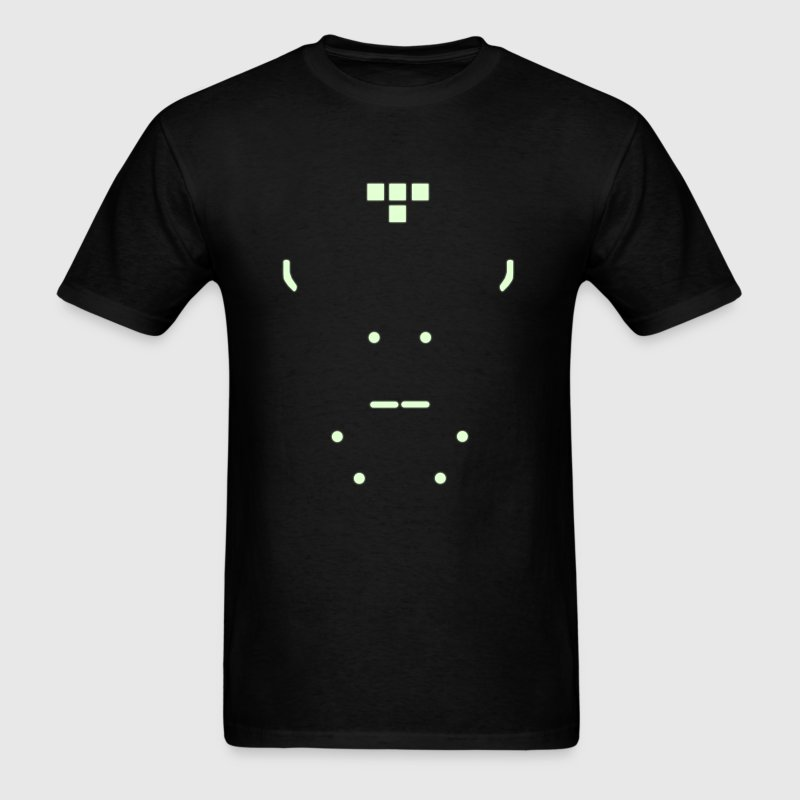 Grid Warrior (green w/ disc) - Men's T-Shirt