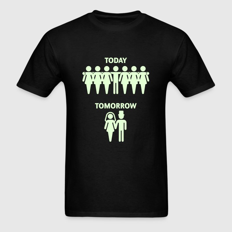 Today - Tomorrow (Stag Night / Bachelor Party) - Men's T-Shirt