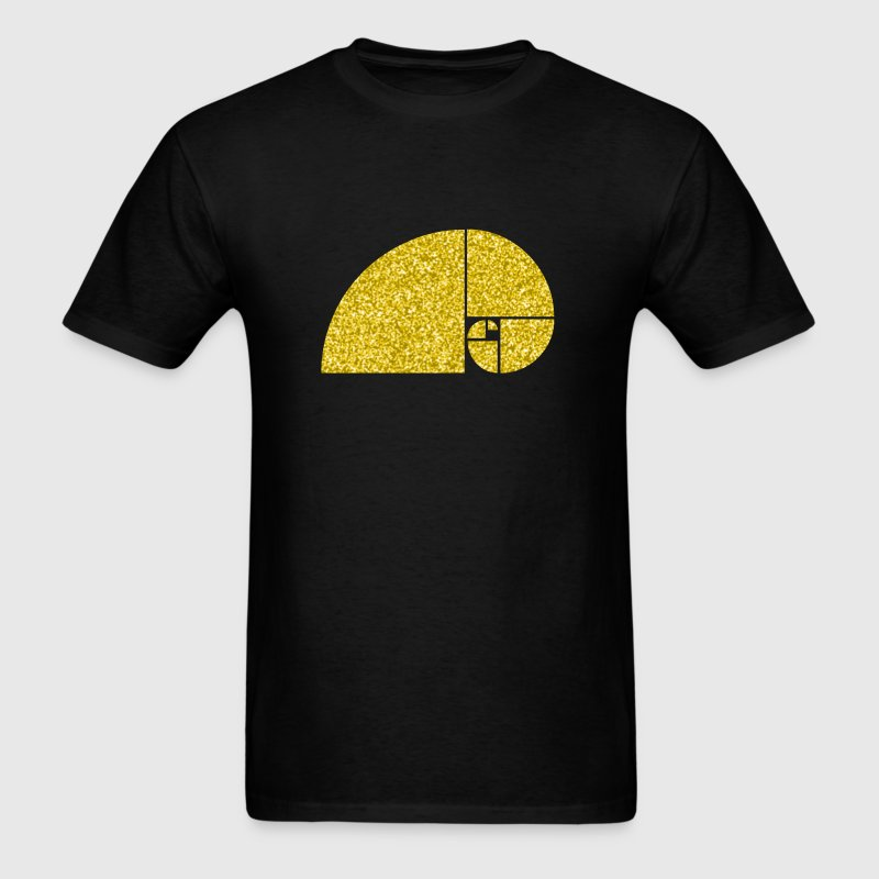 Golden Ratio, Fibonacci Spiral Art - Men's T-Shirt