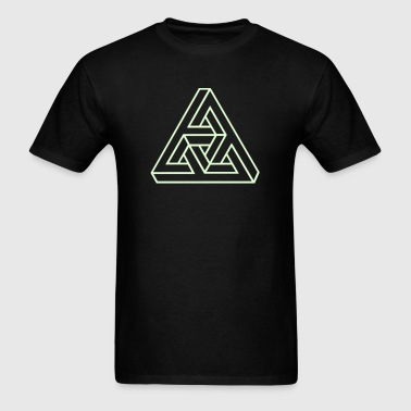 Triangle geometry endless knot infinity mathematic - Men's T-Shirt