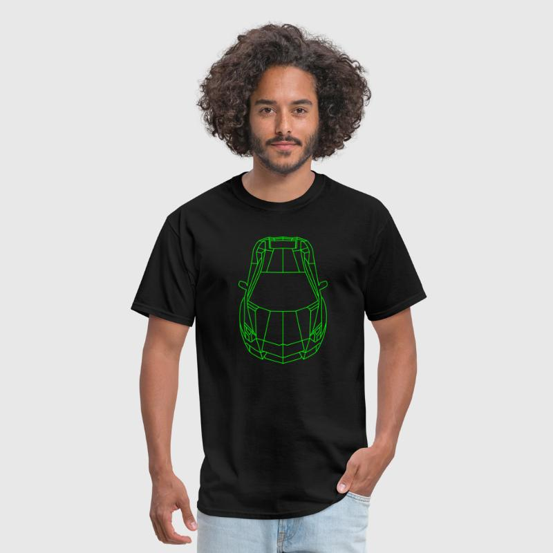 Tron Lamborghini outline - Men's T-Shirt