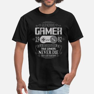 Old School Gamer Old School Gamer 1982 Birthday - Men's T-Shirt