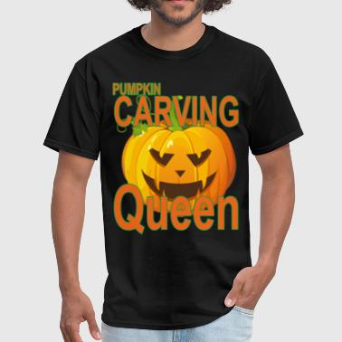 pumpkin_carving_queen_for_halloween_tshi - Men's T-Shirt