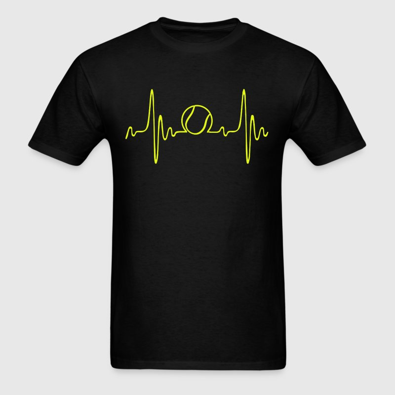 tennis - heartbeat - Men's T-Shirt