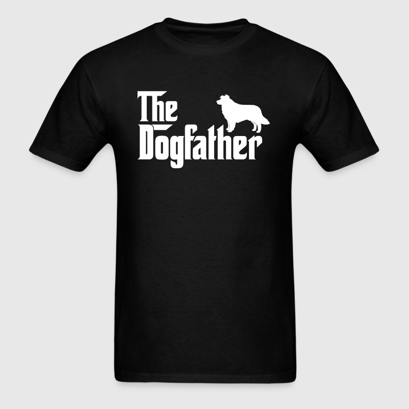 Border Collie DogFather T-Shirt - Men's T-Shirt