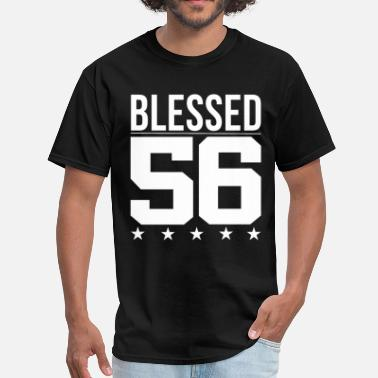 Birthday Quotes Blessed 1956 Bible Verse Quote Birthday Greeting - Men's T-Shirt