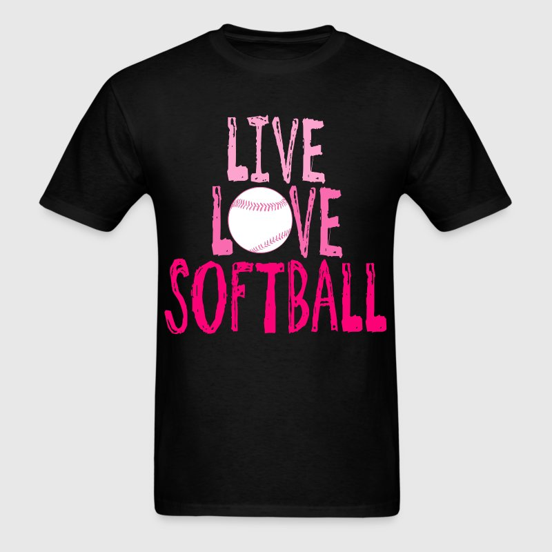 Live, Love, Softball - Men's T-Shirt
