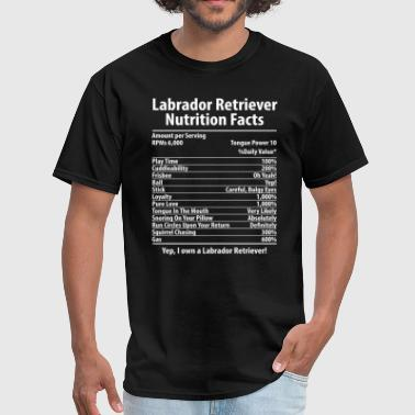 Labrador Retriever Dog Nutrition Facts T-Shirt - Men's T-Shirt