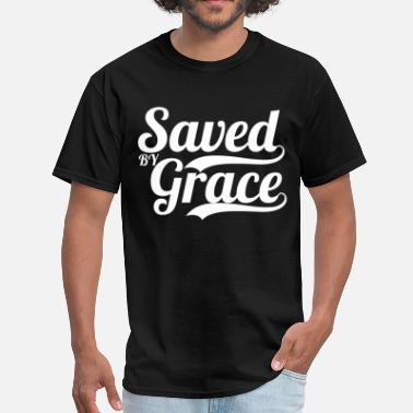 Short Bible Verses Saved By Grace Bible Verse Scripture Quote - Men's T-Shirt