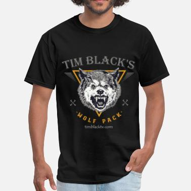 Growling Wolf Tim Black Wolf Pack Growl - Men's T-Shirt