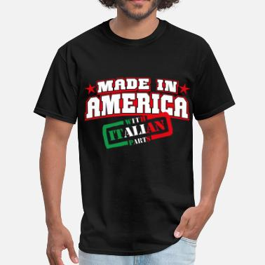 Parts made_in_america__italian parts - Men's T-Shirt
