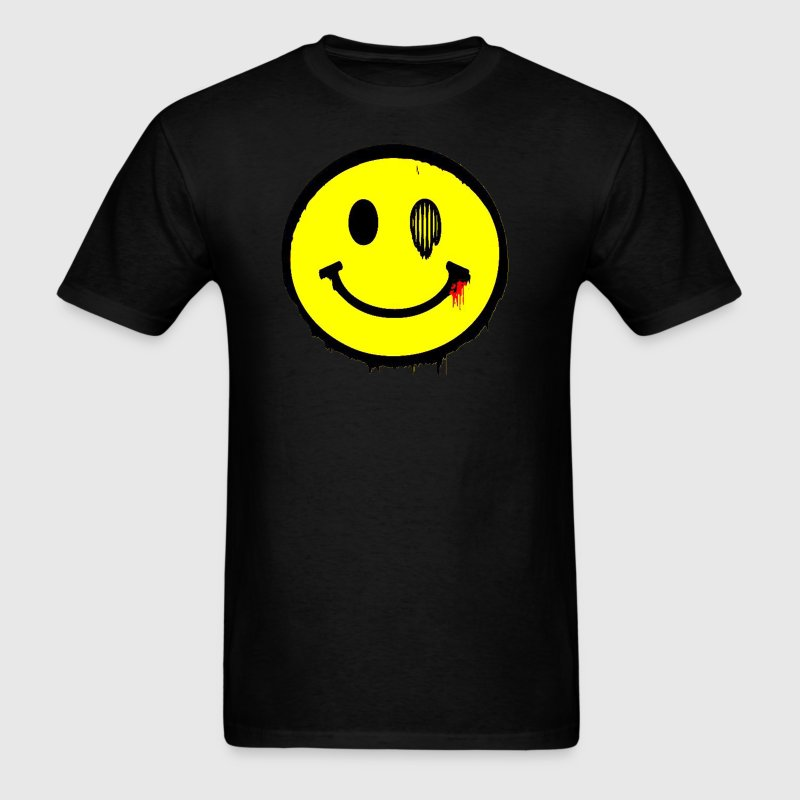 Grunge Smiley - Men's T-Shirt