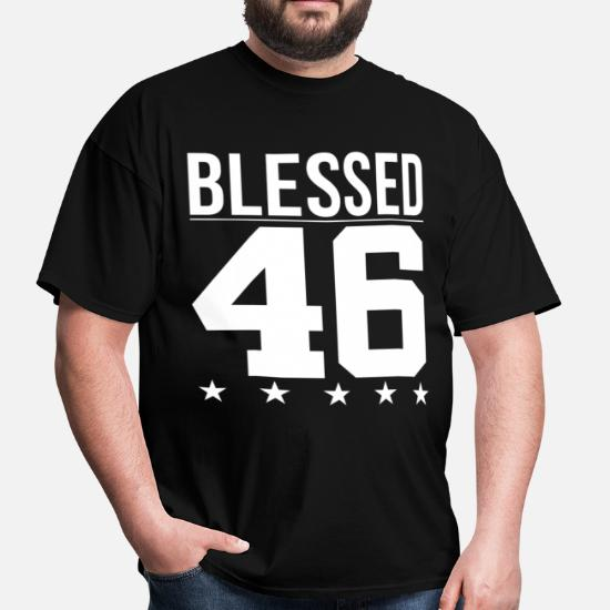 6184011dc38 Blessed 1946 Bible Verse Quote Birthday Greeting Men's T-Shirt ...