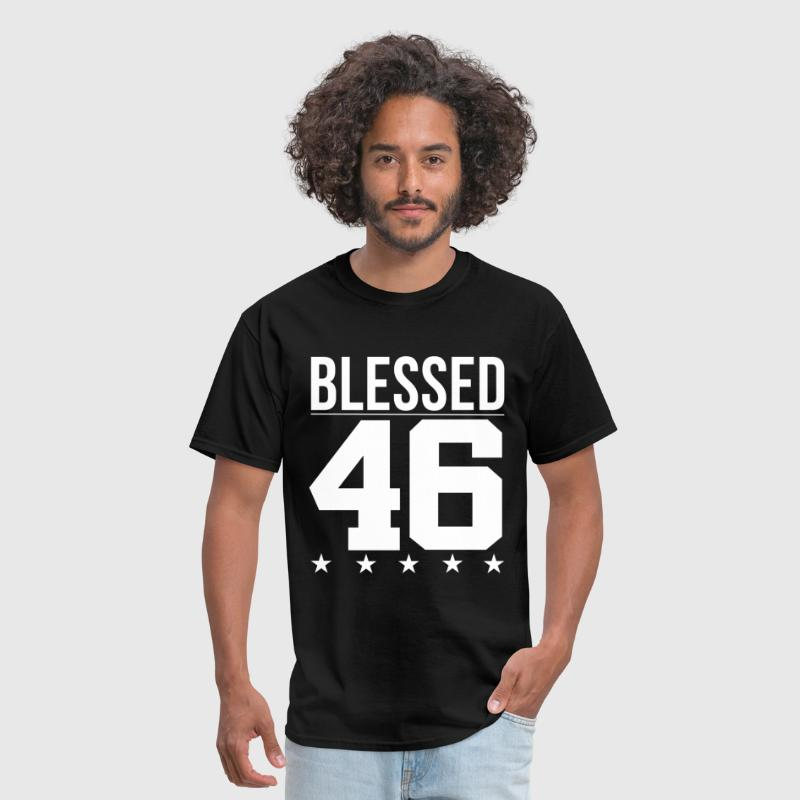 Blessed 1946 Bible Verse Quote Birthday Greeting - Men's T-Shirt